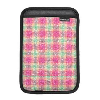 Glittery Easter Tartan Plaid iPad Mini Sleeve