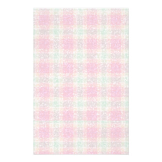 Glittery Easter Tartan Plaid Stationery