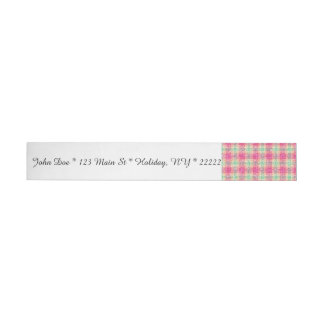 Glittery Easter Tartan Plaid Wrap Around Address Label
