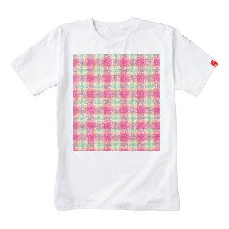 Glittery Easter Tartan Plaid Zazzle HEART T-Shirt