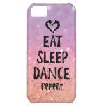 Glittery Eat, Sleep, Dance case Case For iPhone 5C