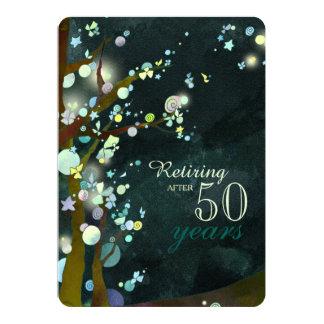 Glittery Evening Retirement Celebration Card