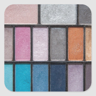 Glittery Eyeshadow Square Stickers