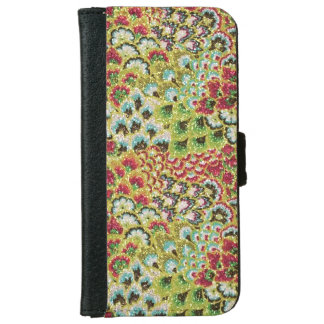 Glittery Fall Floral Tapestry iPhone 6/6s Wallet Case