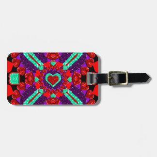 Glittery Flower Valentine Hearts Bag Tag