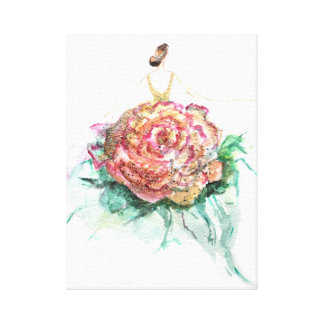 Glittery flowercouture painting canvas print