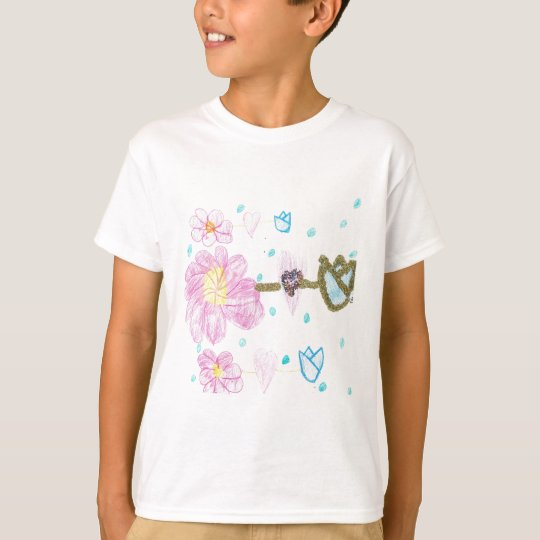 Glittery Flowers by Mary T-Shirt