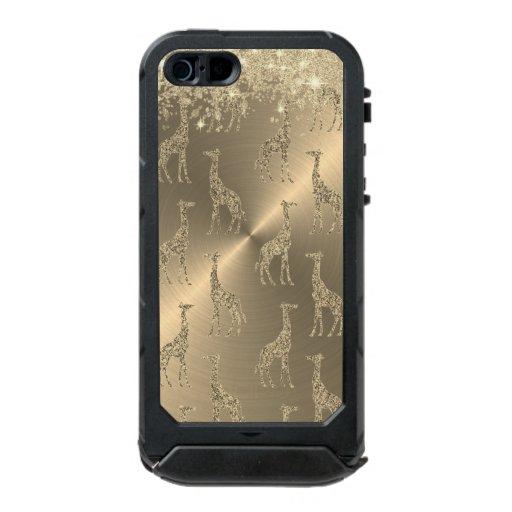 Glittery Giraffes on Glitzy Gold         Waterproof Case For iPhone SE/5/5s