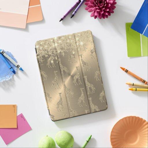 Glittery Giraffes on Glitzy Gold          iPad Air Cover