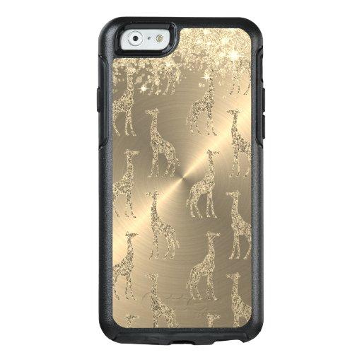Glittery Giraffes on Glitzy Gold    OtterBox iPhone 6/6s Case