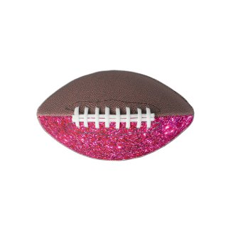 Glittery Glam Football Pink Sparkly Cute Gifts