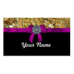 Glittery gold & black business cards