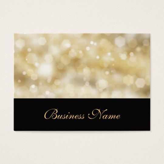 Glittery Gold Business Card