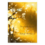 "Glittery Gold Forest Indie Wedding Invitations 5"" X 7"" Invitation Card"