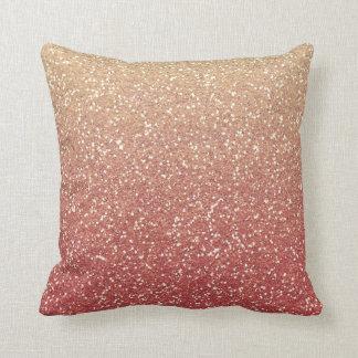 Glittery Gold Melon Throw Pillow