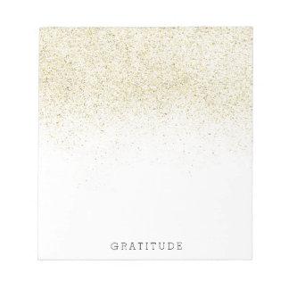 Glittery Gold Note Pad