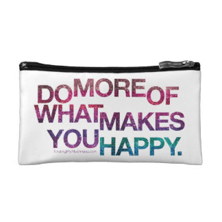 Glittery Happy Muchness Bag Cosmetics Bags