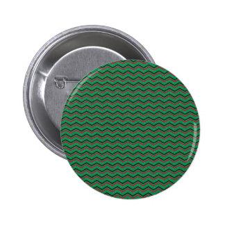 Glittery Holiday Zigzags Button