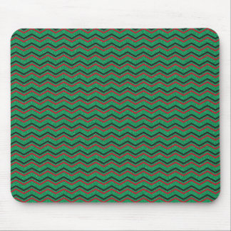 Glittery Holiday Zigzags Mouse Pad