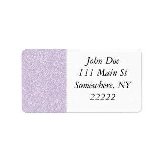 Glittery Lavender Label