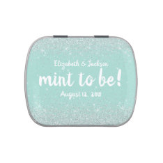 Glittery Look Wedding Mints Favor Tin Jelly Belly Tins at Zazzle