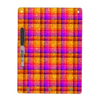 Glittery Neon Plaid Dry Erase Board