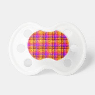 Glittery Neon Plaid BooginHead Pacifier