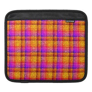 Glittery Neon Plaid Sleeve For iPads