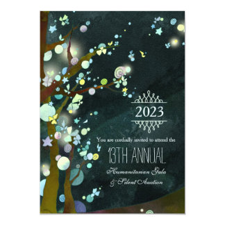 Glittery Night Charity Gala and Auction Card