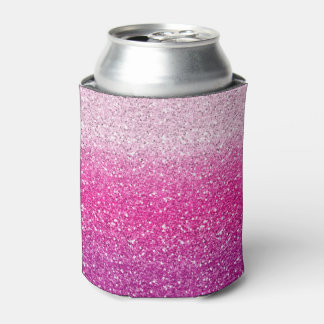 Glittery Pink Ombre Can Cooler