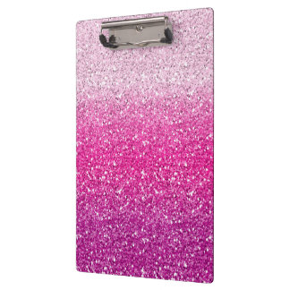 Glittery Pink Ombre Clipboards