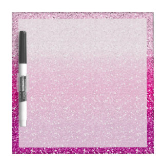 Glittery Pink Ombre Dry-Erase Board