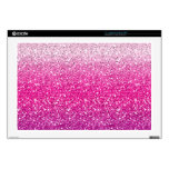 "Glittery Pink Ombre Skin For 17"" Laptop"