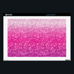 """Glittery Pink Ombre Skin For 17&quot; Laptop<br><div class=""""desc"""">Gradient shades of pink with a cool sparkle effect</div>"""