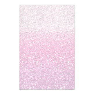 Glittery Pink Ombre Stationery