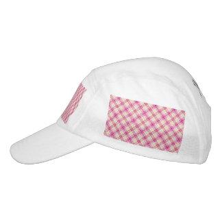 Glittery Pink & Yellow Plaid Headsweats Hat