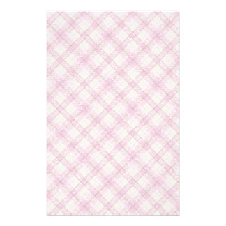 Glittery Pink & Yellow Plaid Stationery