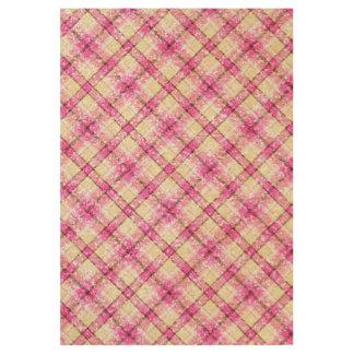 Glittery Pink & Yellow Plaid Wood Poster