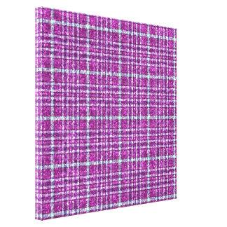 Glittery Purple Awareness Plaid Canvas Print