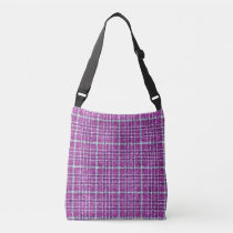 Glittery Purple Awareness Plaid Crossbody Bag