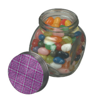 Glittery Purple Awareness Plaid Jelly Belly Candy Jars