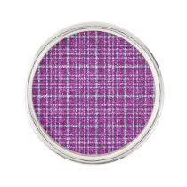 Glittery Purple Awareness Plaid Pin