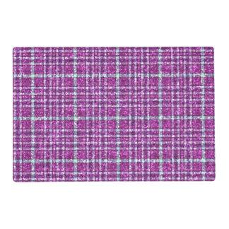 Glittery Purple Awareness Plaid Placemat