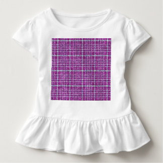 Glittery Purple Awareness Plaid Tee Shirt