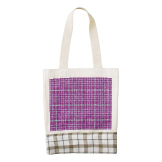 Glittery Purple Awareness Plaid Zazzle HEART Tote Bag