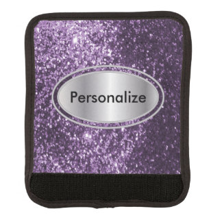Glittery Purple Bling Personalize Luggage Handle Wrap