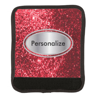 Glittery Red Bling Personalize Handle Wrap