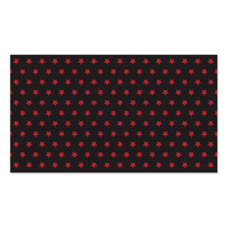 Glittery Red Stars on Black Business Card