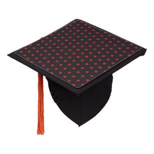 655cd7a4f7d Glittery Red Stars on Black Graduation Cap Topper