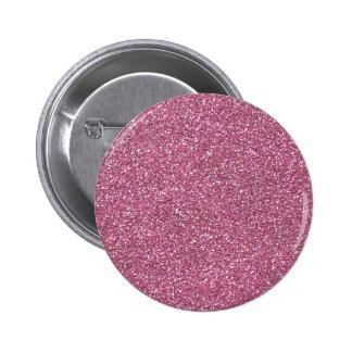 Glittery Shiny Pink Glitters Pinback Button
